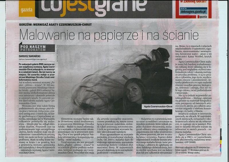 Dariusz Baranski_Malowanie na papierze i na scianie_Gazeta Wyborcza Gorzow Wlkp_30sierpnia2013_strony_low res
