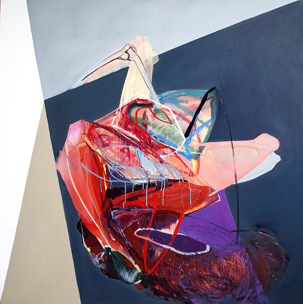meat&geometry #11, 150x150 cm, acrylic / oil on canvas, 2014
