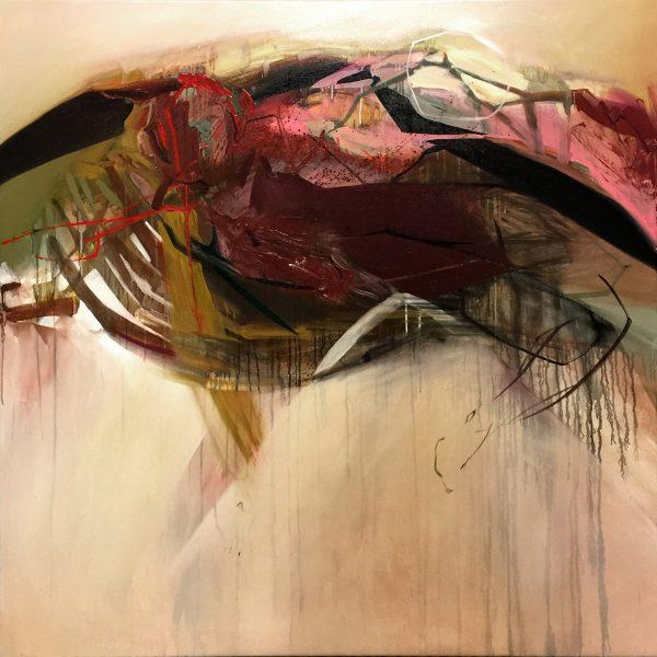 Baroque 14, 150x150 cm, acrylic and oil on canvas, 2017