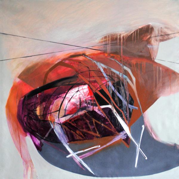 Divisions #2, 130x130 cm, acrylic/oil/canvas, 2016