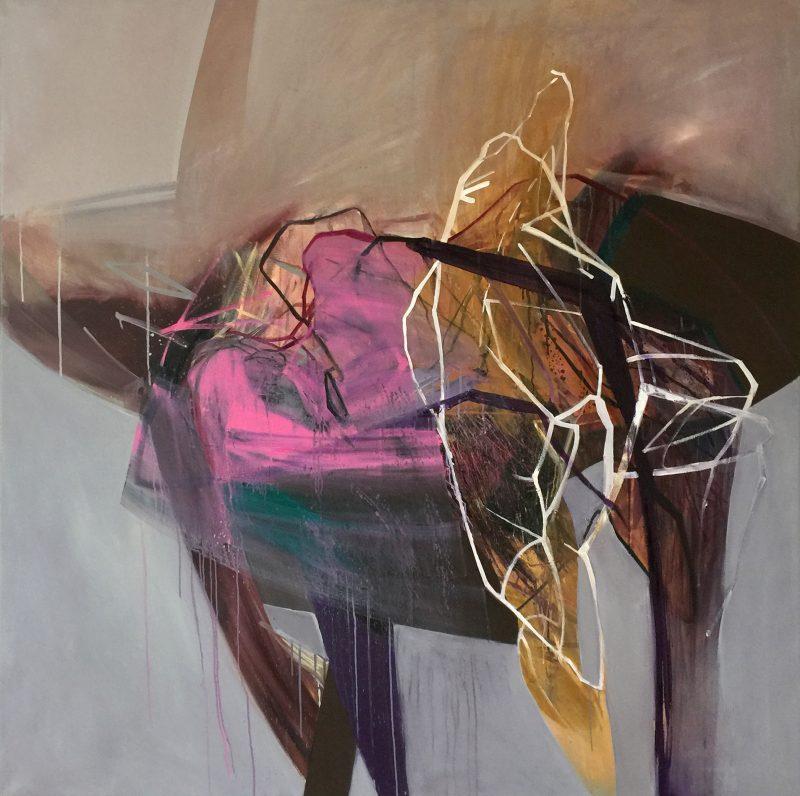 Baroque 15, 150x150 cm, acrylic and oil on canvas, 2018
