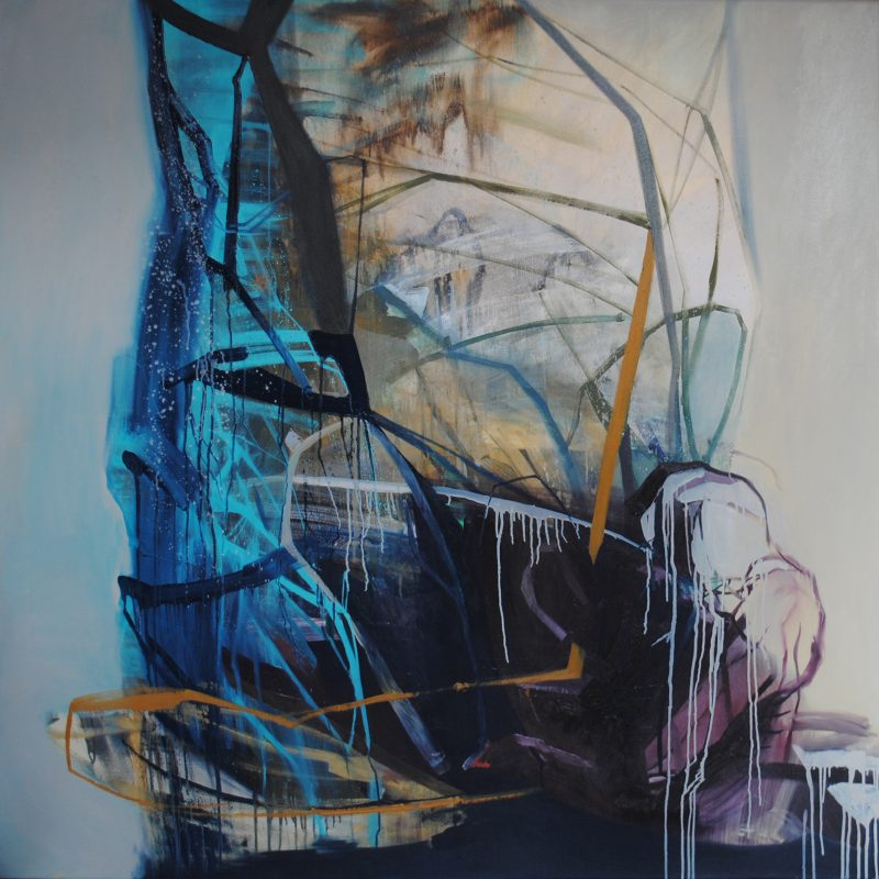 Baroque 16, 150x150 cm, acrylic and oil on canvas, 2018, private collection